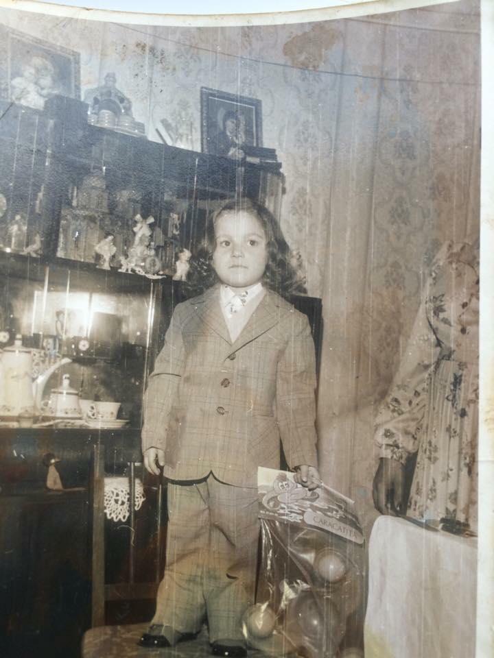 Nicu Buceanu la vasrsta de 6 ani