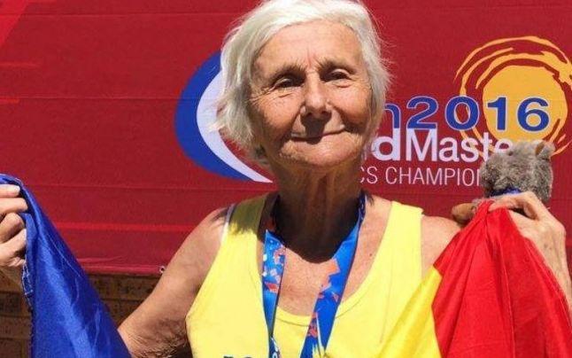Elena Pagu a castigat la 91 de ani concursul de mars la Campionatul European! Romania are doua medalii de aur la Madrid