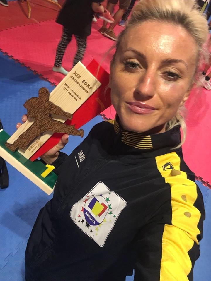 Alexandra Pop e campioana la Europeanul de karate Wkf Goju-ryu