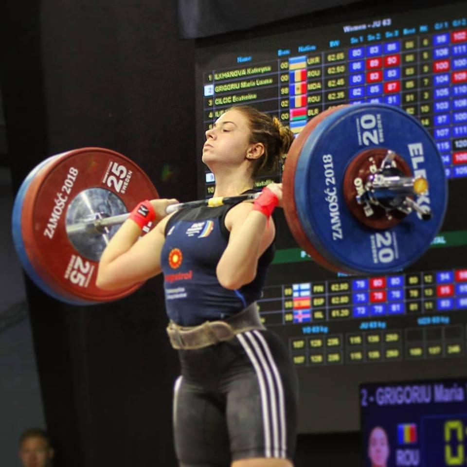 Maria Luana Grigoriu este campioana nationala la haltere la U20