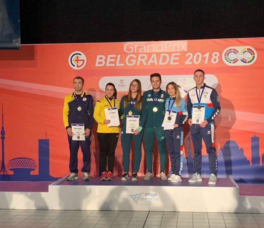 Laura Coman si Alin Moldoveanu incheie anul la tir pe podium.