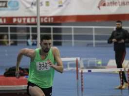 Mihai Donisan castiga la Campionat Municipal de Iarna, intrecerea la inaltime.