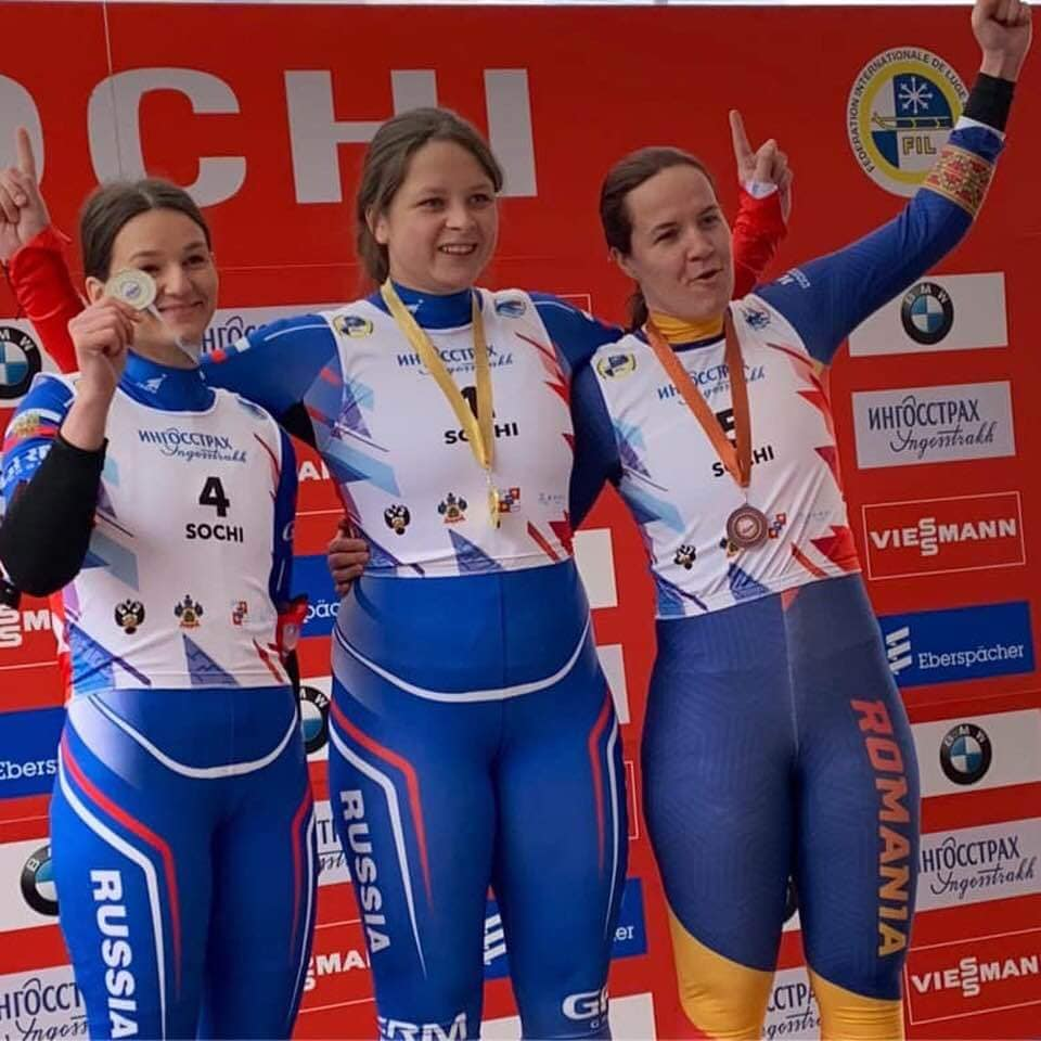 Raluca Stramaturaru a revenit la Sochi. A fost un concurs la sanie finalizat cu bronz!