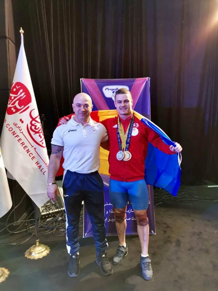 Paul Dumitrascu e dublu medaliat cu aur la haltere la Teheran!