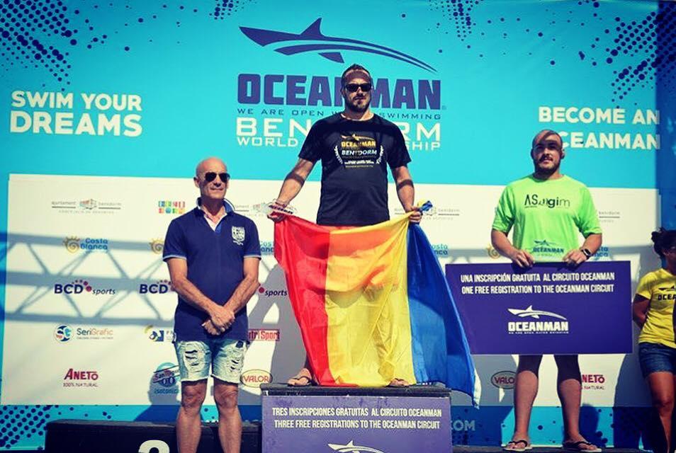 "Marius Neacu a urcat pe podium la Oceanman! Povestea lui ""Marius Swim"""