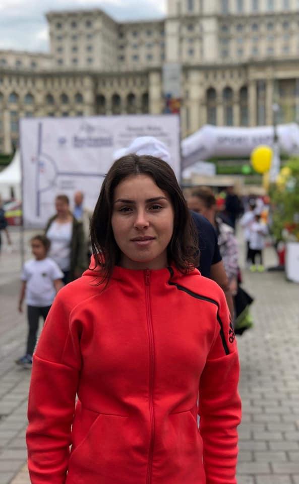 Andreea Piscu si ultimele momente inainte de start la Campionatului Mondial