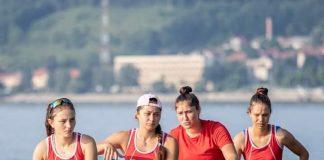 Elena Mocanu si fetele din barca de 4 rame colectioneaza medalii la canotaj