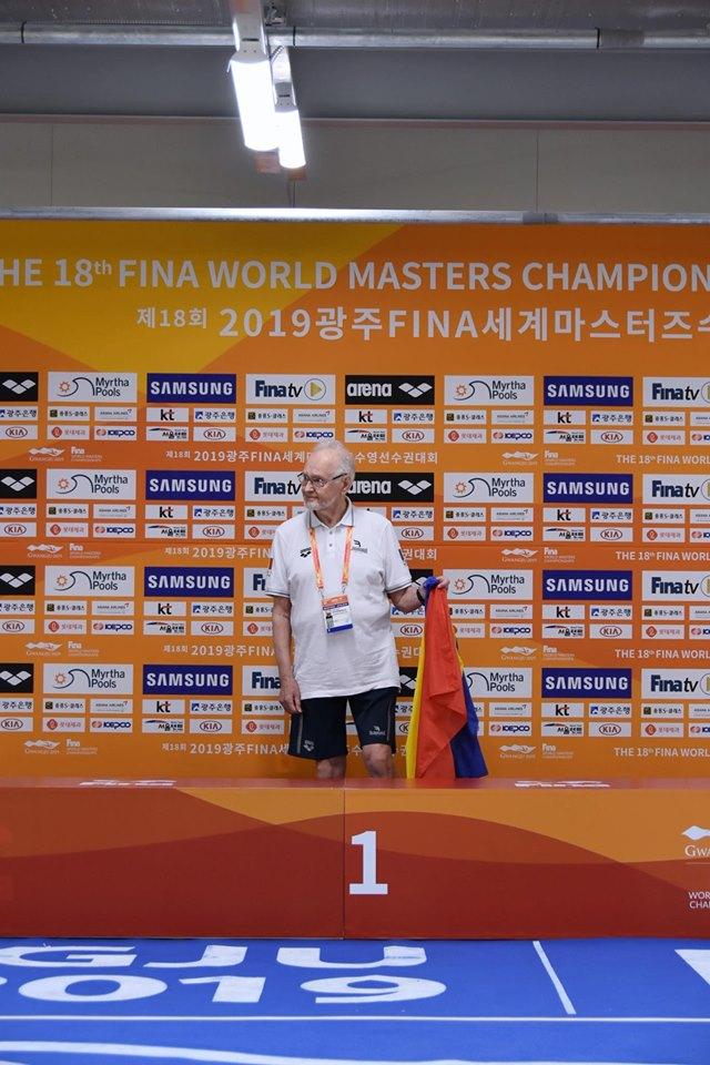 Dan Emil Stoenescu devine campion mondial la inot la 90 de ani! Vesti din China