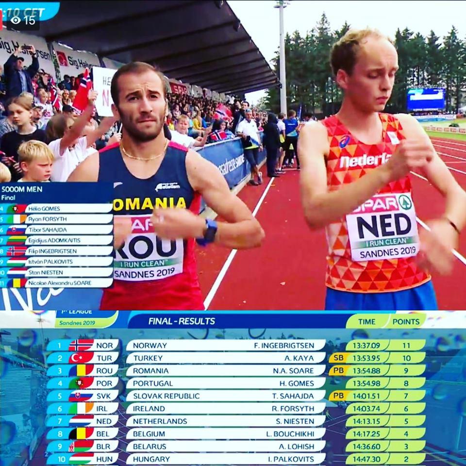 Cel mai bun rezultat personal pentru Soare la 5000 metri! Rezultate din Norvegia