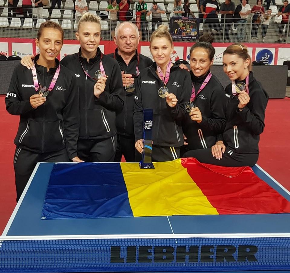 Romania isi apara titlul european la tenis de masa! Reactii din Franta