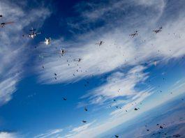 Andreea Pistea are recorduri mondiale in parasutism la formatii mari in cadere libera