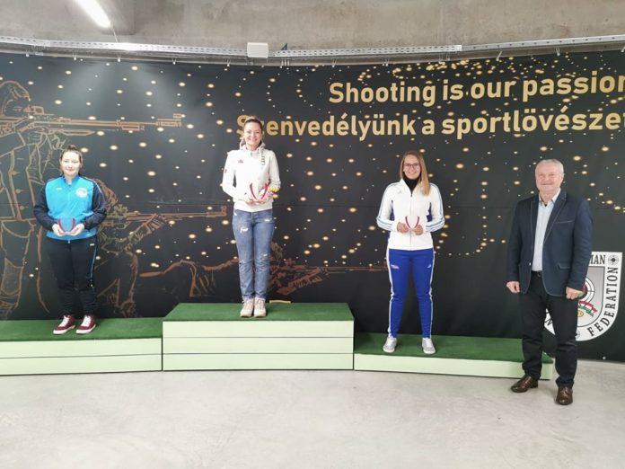 Roxana Sidi castiga la Openul Ungariei in proba pusca aer comprimat 10 metri