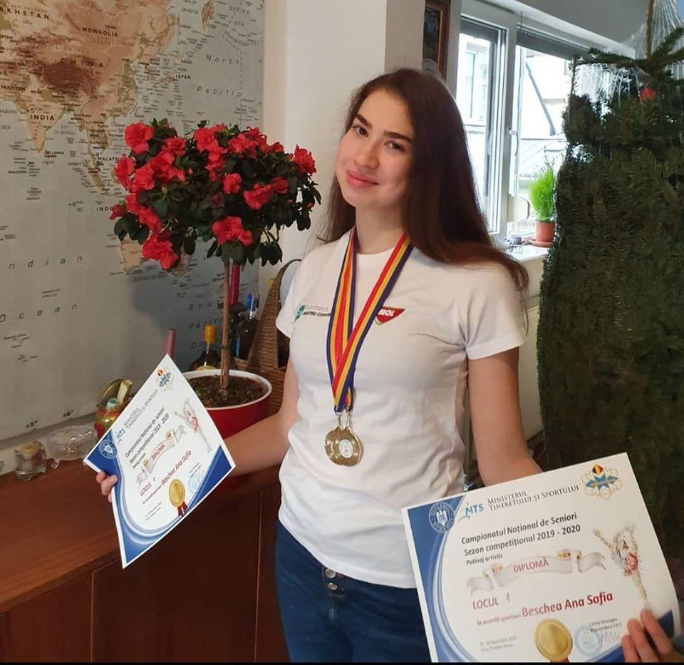 Ana Sofia Beschea e campioana pe gheata. Obiectivul patinatoarei