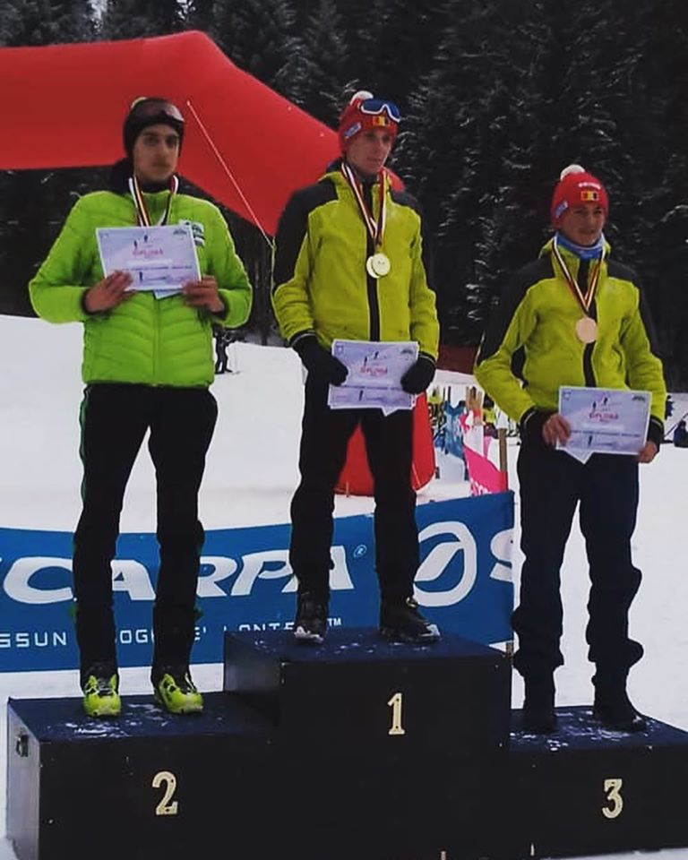 George Jinga e campionul celor de la Skimo la schi alpinism.