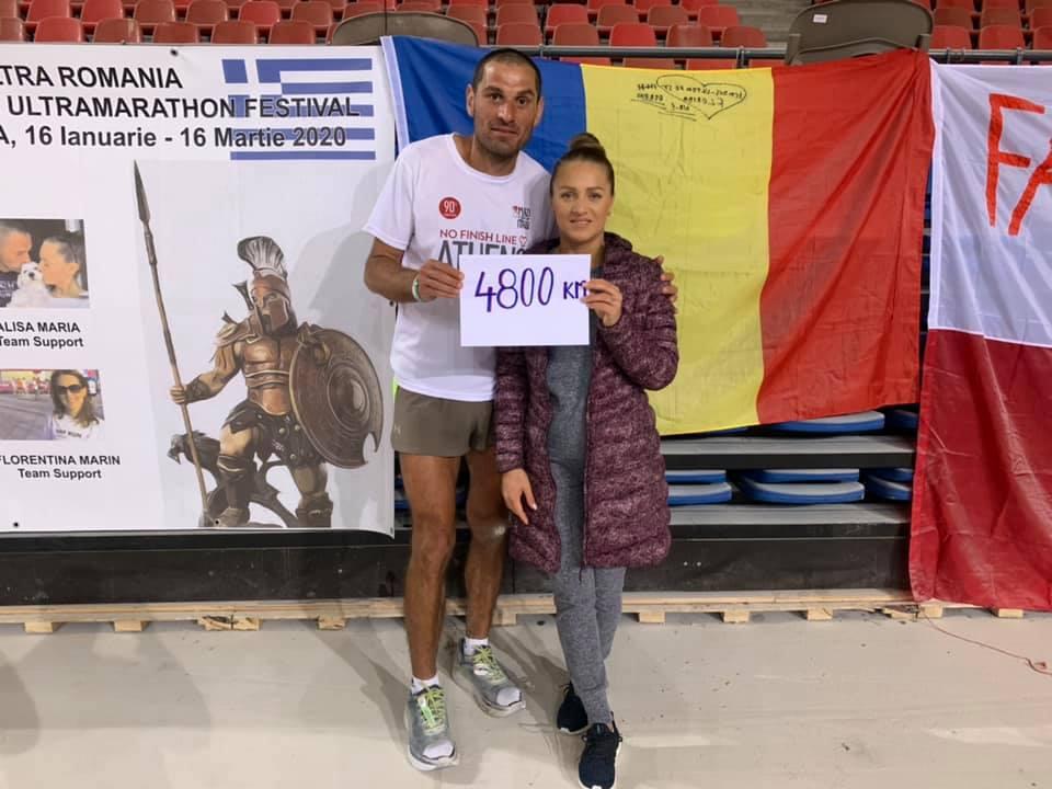Finish pentru Nicu Buceanu dupa 47 de zile si 19 ore la 5000 de kilometri in Atena!