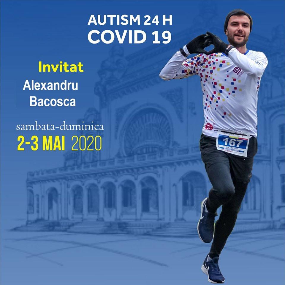 Alexandru Bacosca se antreneaza pentru intrecera AUTISM 24 H - COVID19