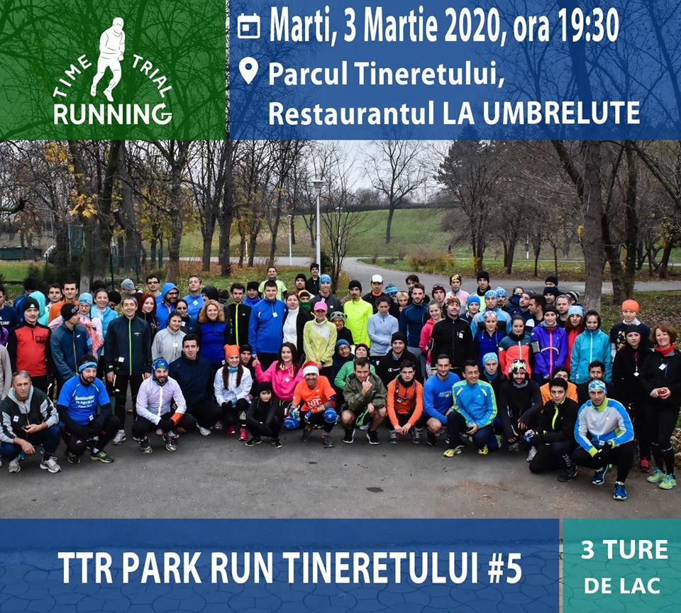 Revin antrenamentele TTR PARK RUN Tineretului. Alergare in parc