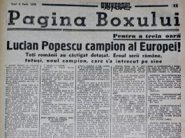 Lucian Popescu devenea la 18 ani campionul Europei la box