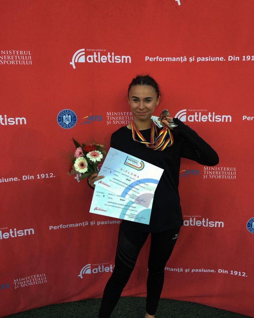Angelica Olenici a ajuns la final de sezon. Atleta vorbeste despre medaliile cucerite
