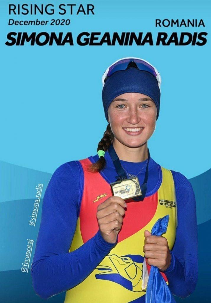 """Simona Radiş este """"Steaua în ascensiune"""" a canotajului la nivel internațional"""