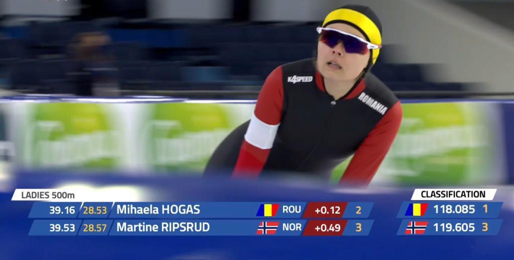 Mihaela Hogaş a făcut un nou record naţional la patinaj viteză la Europene
