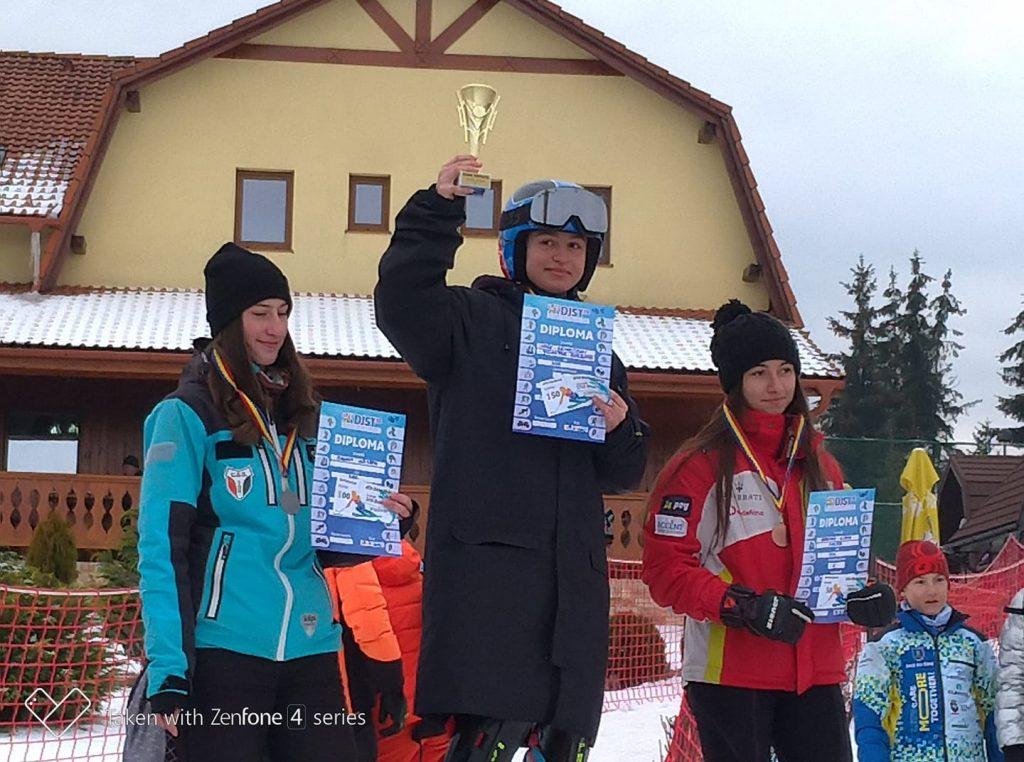 Matei Oancea și Alessia Fuchs câștigă la slalom titlul național la U16