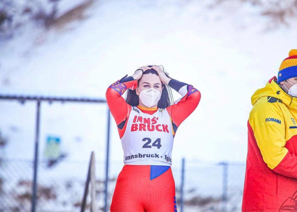 Cezara Curmei vrea să reprezinte România la sanie la Jocurile Olimpice