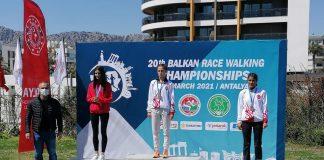 Maria Lătăreţu se remarcă la Campionatele Balcanice de marş. Medaliile românilor