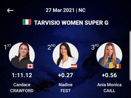 Două clasări pe podium pentru Ania Caill la Campionatele Sloveniei de schi alpin