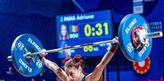 Cosmina Adriana Pană a obținut argint la Europenele de haltere de la Moscova.