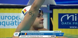 Robert Glință este campion european la 100 metri spate!