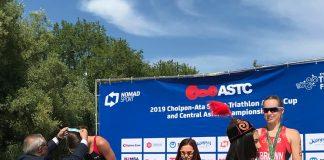 Antoanela Manac e penalizata pentru un gel dar e pe locul 2 la Asia Triatlon