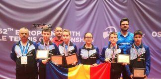 Medalii castigate la Campionatul European de Tenis de Masa, la juniori, in Cehia