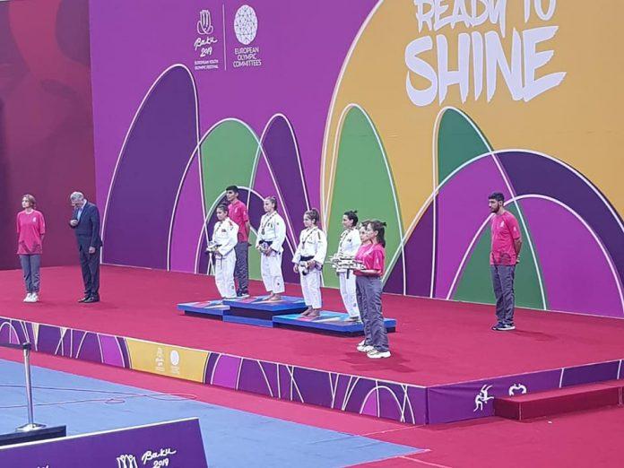 Georgia Hagianu a castigat medalia de aur la Judo. Vesti despre tricolori de la Baku
