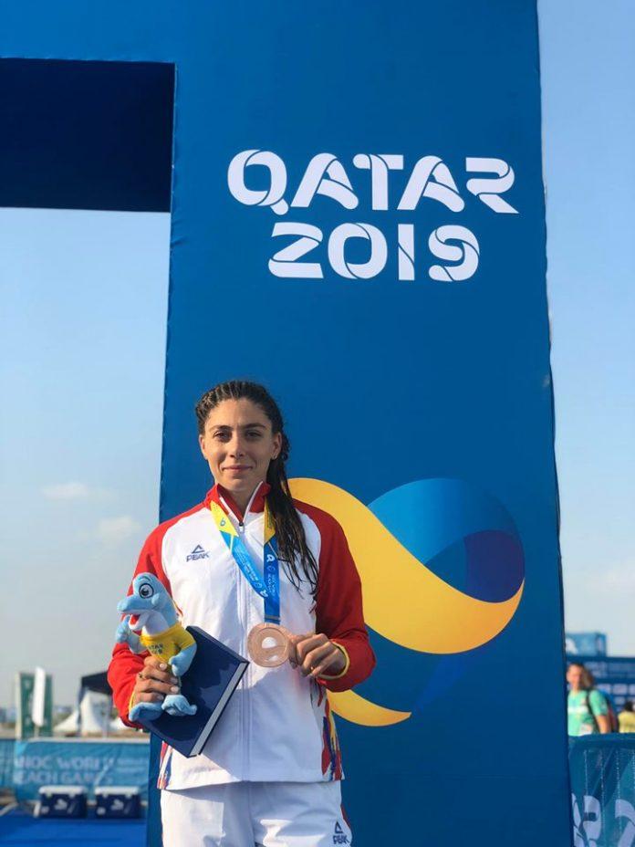 Antoanela Manac este medaliata cu bronz la Aquatlon WBG in Qatar