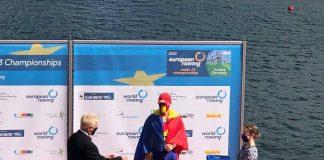 Echipajele Romaniei medaliate in Germania cu aur la Campionatele Europene sub 23 de ani la Canotaj