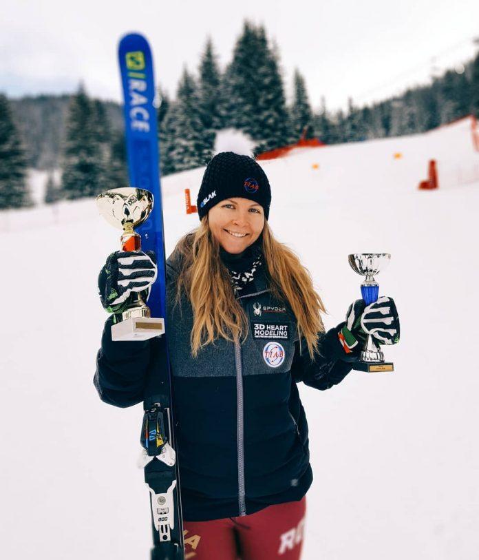Două podiumuri în Franța pentru Ania Caill la schi alpin, Super G