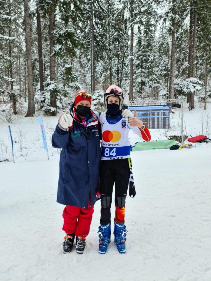 Alexandru Matei Oancea și Ioana Corlăţeanu se remarcă la FIS Children Trophy