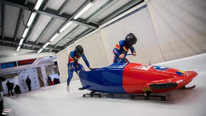 Mihai Tentea și Ciprian Daroczi sunt campioni europeni de juniori U23 la bob