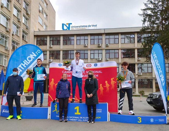 Lucian Mihăiță Ștefu este campion național la sub 20 de ani la 10 kilometri
