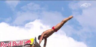 Românii Cătălin Preda și Constantin Popovici încep tare Red Bull Cliff Diving 2021