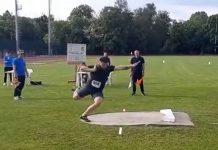 Record pentru Rareș Andrei Toader la proba de aruncare a greutății!